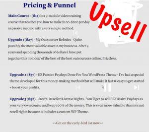 EZ Passive Paydays Upsell